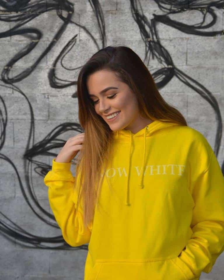 felpa gialla donna con cappuccio urban style eco fashion